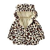 Kinder (18M-5J) Dick Warm Leopard Mantel, Quaan Karikatur Ohren Süss Weste Süß Reise draußen Glamourös Solide Baumwolle Beiläufig Klassisch Einfachheit Retro Sport Outwear