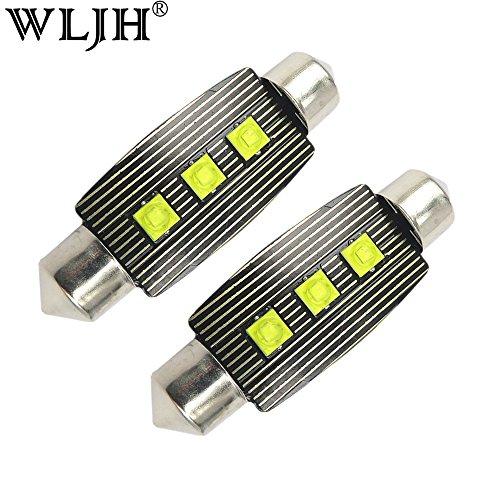 WLJH 2 pcs 41 mm 42 mm Feston Ampoule LED 6411 211–2 212–2 569 578 CANBUS Erreur Gratuit CREE Chips pour Auto Intérieur Carte de dôme de Plaque d'immatriculation Trunk Courtois lumière
