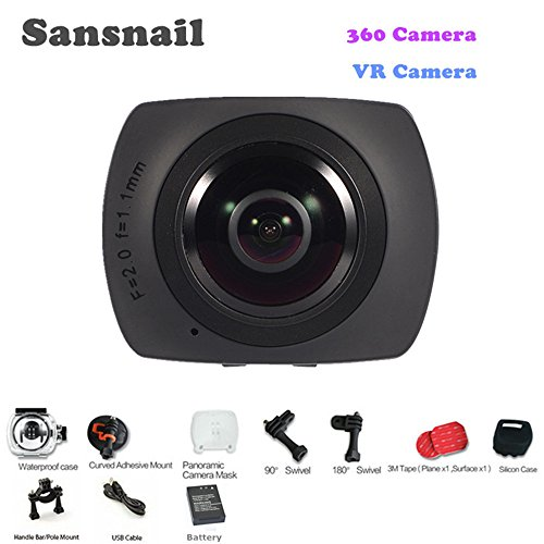 sansnail SV500Action Kamera V1Panorama 360Video-Kamera Full HD 1440p 1080P 30FPS 8MP VR 220Fisheye Weitwinkel-Objektiv Dome WiFi Support Gyroskop (Connect Ip Cam)