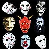 WXH 9 PZ Halloween Cosplay Party Party Motosega Terrore V Parola Vendetta Horror Clown Joker Scheletro Maschera Spaventosa, per Feste Cosplay Festival