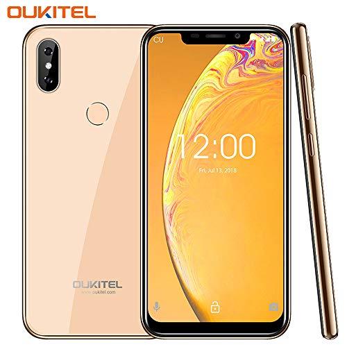 "OUKITEL C13 Pro Dual 4G Volte Smartphone Libre de 6.18"" 19:9 Pantalla,Android 9.0,Doble Vidrio Curvado 2.5D,2GB..."