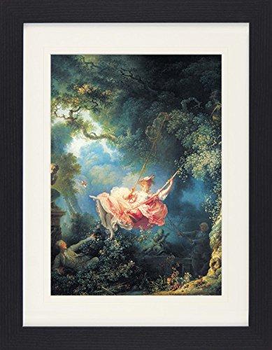 1art1 114084 Jean-Honoré Fragonard - Die Glücklichen Zufälle Der Schaukel, 1767 Gerahmtes Poster...