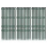 30 Stück Ellofence Weidezaunpfähle grün aus Plastik, Gesamthöhe 72 cm (Packung à 30 Stück)