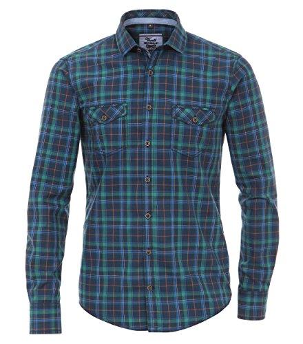 Michaelax-Fashion-Trade -  Camicia classiche  - A quadri - Classico  - Maniche lunghe  - Uomo Blau (100)