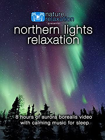 Northern Lights Relaxation: 8 Hours of Aurora Borealis Video with Music for Sleep [OV]
