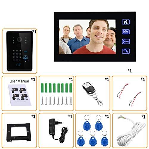 7 inches Wired Doorbell RFID Password Video Door Phone Intercom Doorbell With IR Camera HD TV Line Remote Control System 4 Line-intercom