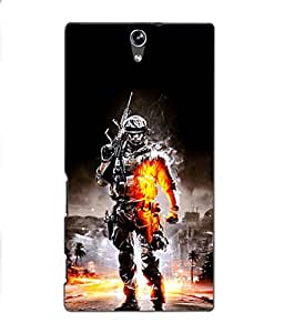 Crazymonk Premium Digital Printed 3D Back Cover For Sony Xprria C5 Dual