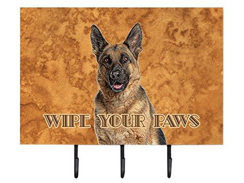 Caroline's Treasures kj1222th68Deutscher Schäferhund Wipe Your Paws Leine Oder Schlüsselhalter, groß, Multicolor -
