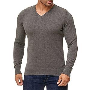 BARBONS Herren Pullover Pullunder mit V-Ausschnitt oder Rundhals - Slim-Fit - Feinstrick - Hochwertige Baumwollmischung