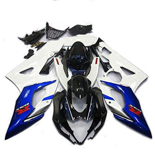 Alpha Rider Motorrad ABS Spritzguss Verkleidung Kaminabdeckung Kit Arbeit Cover Guard Karosserie für Suzuki GSXR1000GSXR 1000K52005–2006 (2004 Gsxr 1000 Tank)