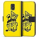 DeinDesign Samsung Galaxy S5 Tasche Leder Flip Case Hülle Borussia Dortmund BVB Pokalfinale Fanartikel