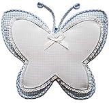Coccarda Nascita Farfalla da Bimbo Azzurra con tela Aida da ricamare