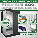 Growbox GrowPRO 2.0 XL - Grow Set für Indoor Homegrow - 600W Grow Set Premium