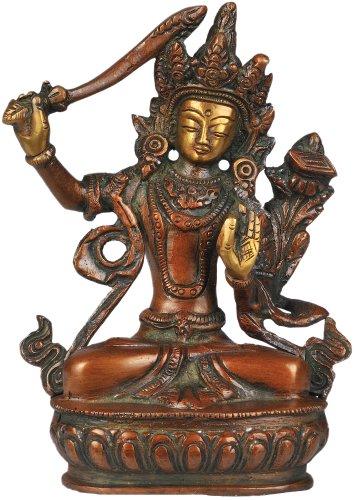 Manjushri-statue (Manjushri, Bodhisattva von Transcendent Weisheit–Messing Statue)