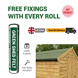 Premium Green Mineral Shed Roofing Felt 4m x 1m roll