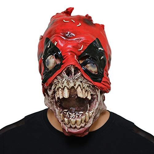 JUFENG Maschere di Lattice di Halloween Orribili Terribile Stile Horror con Costume di qualità Deluxe Diavolo Uomini Stile di Faccia Piena,OneSize