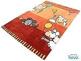 Ballon rot HEVO® Handtuft Teppich | Kinderteppich | Spielteppich 110x170 cm Öko Tex 100