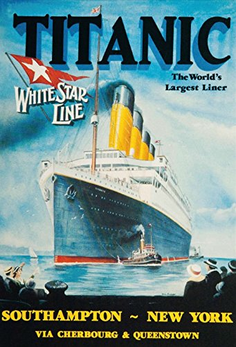 Titanic worlds largest liner schiff boot White Star Line blechschild