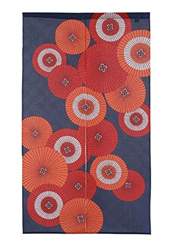 Made in Japan Noren Curtain Tapestry Japanese Umbrella Aggregate Design by Narumi