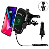 Schnelles wireless charger Auto drahtlos ladegerät ,HAISSKY QI drahtlos Schnellladestation, für Apple iPhone 8/ 8 Plus/ iPhone X, Samsung Galaxy S8/S8Plus/S7/S7Edge/S6Edge Plus/Note8/ Note5