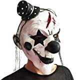 Ruiying Masque Clown avec Chapeau Déguisement Halloween Adulte Enfant Cosplay Masquerade