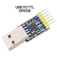 1.USB vers TTL Convertisseur Série. 2.Stable et fiable Chipset CP2102 3.USB spécification 2.0compatible avec pleine vitesse 12Mbps.4.Standard USB type A mâle et connecteur TTL 6broches 13. 6pins pour 3.3V, RST, TXD, RXD, GND 5V 5.Tous les handsh...