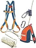 Dachdecker Set Sicherheitsgeschirr Absturzsicherung 10m Seil Dämpfer