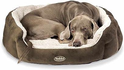 Nobby Komfortbett für Hunde Oval Kamega braun-hellbeige