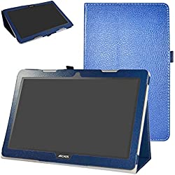 """Archos 133 Oxygen Funda,Mama Mouth Slim PU Cuero Con Soporte Funda Caso Case para 13.3"""" Archos 133 Oxygen Andorid 6.0 Tablet PC,Azul oscuro"""