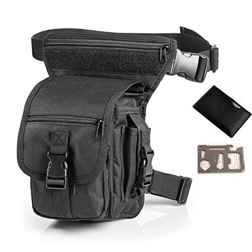 QHIU Taktische Beintasche Hüfttasche für Wandern Camping Outdoor Survival Tool