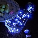 Flaschenlicht-Kit 15 LED helles buntes Flaschen-Lichterkette mit Batterie, Licht-Installationssatz Fairy Lights Batterie Top Hochzeit Dekoration