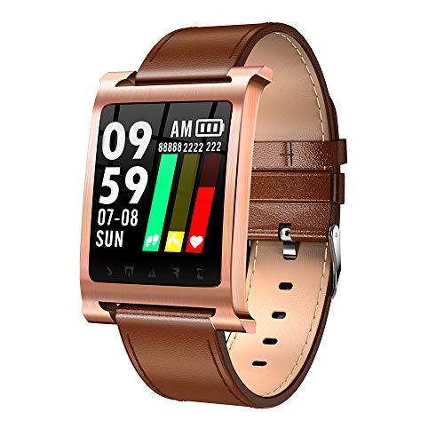 Muamaly Fitness Trackers Wasserdicht, Fitness Armband Mit Pulsmesser Ip68 1,3 Zoll Farbbildschirm Smartwatch Aktivitätstracker Pulsuhren Schrittzaehler Uhr Smart Watch Für Damen Herren (Braun)