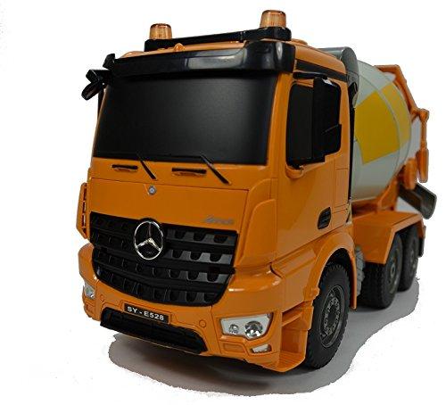 RC Auto kaufen Baufahrzeug Bild 6: BUSDUGA RC Mercedes-Benz Arocs LKW Betonmischer 2,4Ghz ferngesteuert - LED Blinklicht und Licht - Motorsound, Hupe, INKL. AKKU & Ladegerät - komplett Set*