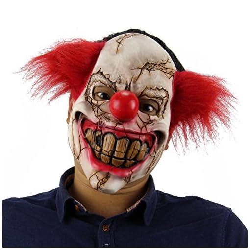 BESTOYARD-Halloween-Horrific-Demon-Adult-Scary-Clown-Maske-Gruselig-Bse-Scary-Halloween-Clown-Maske-Horror-Ghost-Festival-Lustige-Maske-Room-Escape-Prop