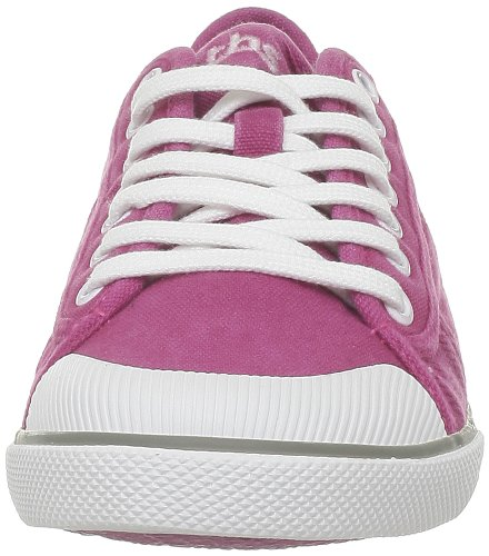 TBS Violay, Baskets mode femme Rose (Toile Lavable Hibiscus)