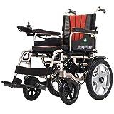 EMOGA Elektrischer Rollstuhl Elektrorollstuhl Folding 28Kg Leichtbau Power Elektro-Rollstuhl,Aluminiumlegierung,Sitzbreite 45Cm,Kann 100 KG Unterstützen