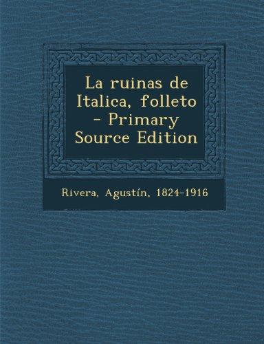 La ruinas de Italica, folleto