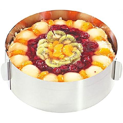 Retrattile in acciaio inox torta Pan Circle Mousse Cake Anello