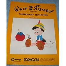 Walt Disney Characters Embroidery Transfers: Favorite Classics (Pinocchio, Bambi, Snow White, Sleeping Beauty, Peter Pan, etc.)