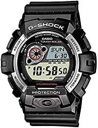 Casio G-SHOCK - Reloj digital de caballero de cuarzo con correa de resina negra