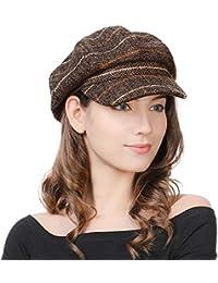 FancetHat Damen Wollmischung Ballonmütze Wintermütze Kappe 55-58cm
