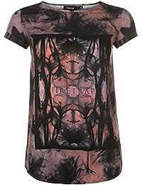 Firetrap Womens Sublimation T Shirt Tee Top Crew Neck Short Sleeve Print