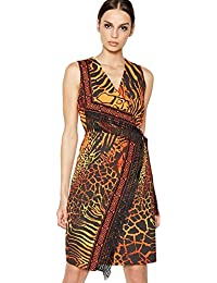 dbfe08b9 Debenhams Star by Julien Macdonald Womens Orange Boho Print Fringed Knee  Length Dress
