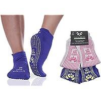 Le migliori calze antiscivolo di lusso per lo Yoga e Pilates| Bikram | HOT Yoga | Ashtanga |pavimenti scivolosi| Ospedale di riabilitazione| Traspirante|Trazione aderente e igienica |Calze con arco adesivo per la stabilità