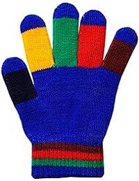 Children's Colourful Rainbow Magic Gloves Winter Warm