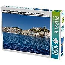 Panoramablick auf die Insel Poros, im saronischen Golf vor der Küste der Peloponnes, Attika, Peloponnes, Griechenland 1000 Teile Puzzle quer (CALVENDO Orte)