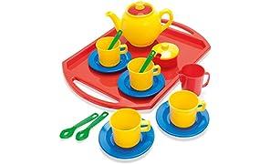 Dantoy 4335 - Servicio de té de 18 piezas [importado de Alemania] , color, modelo surtido