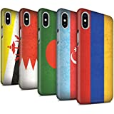 STUFF4 Matte Snap-On Hülle / Case für Apple iPhone X/10 / Pack 28pcs / Asien Flagge Kollektion