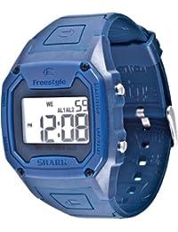 Freestyle - FS84910 - Shark Classic - Montre Homme - Quartz Digital - Cadran Argent - Bracelet Caoutchouc Bleu