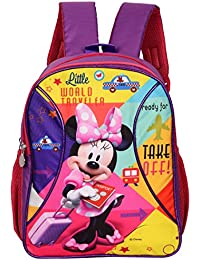Disney Minnie Mouse World Traveller Passport Polyester 14 L Purple Shimmer School  Backpack 7161f6b2cafca